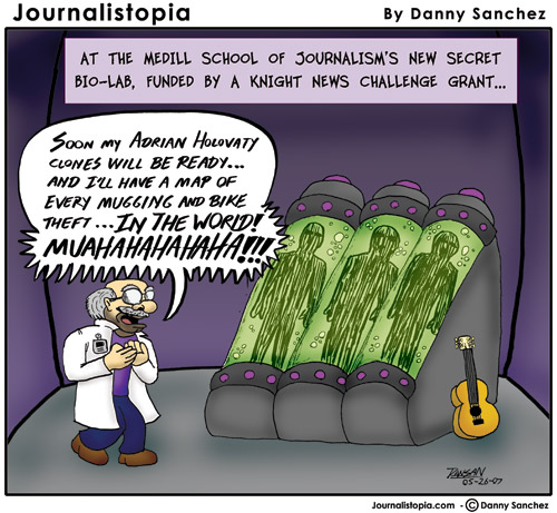 journalistopia cartoon adrian holovaty knight grant northwestern