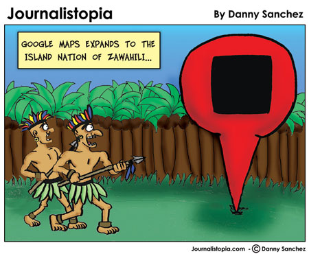 google maps journalistopia cartoon
